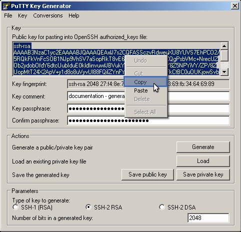 8 6  Generating    | SFTPPlus Documentation | Server and